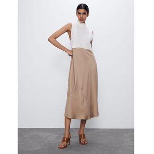 Zara Combination Dress NWT